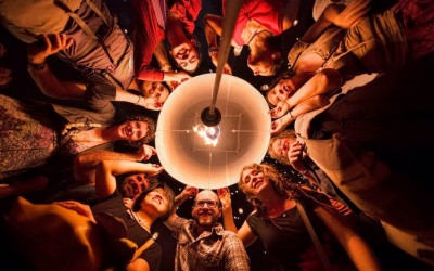 Floating lantern at the festival of light in November